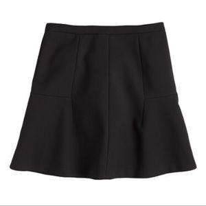 J. Crew Fluted Mini Skirt in Black Double Crepe 2